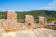 Medieval stone castle in Calafell, Spain Stock Images