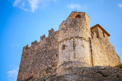 Medieval stone castle on the rock, Calafell, Spain Stock Photos