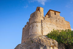 Medieval stone castle on the rock in Spain Royalty Free Stock Photography