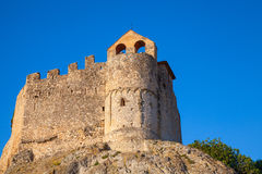 Medieval stone castle on the rock in Spain Royalty Free Stock Photos