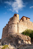 Medieval stone castle on the rock in Spain Royalty Free Stock Image