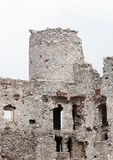 Medieval stone castle ruins, illustration Stock Image