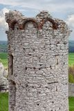 Medieval stone castle ruins, illustration Royalty Free Stock Images