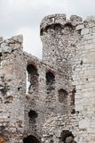 Medieval stone castle ruins, illustration Stock Photography