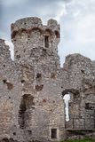 Medieval stone castle ruins, illustration Stock Photo