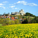 Medieval Stone Castle Ruins Rabi - Czech Republic Royalty Free Stock Photography