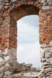 Medieval stone castle ruins window Royalty Free Stock Image