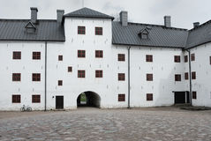 Medieval stone castle in Turku, Inner Yard Royalty Free Stock Photo