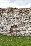 Medieval stone castle wall, background Royalty Free Stock Image