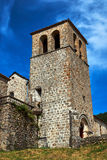 A medieval stone church belfry in Prunet, Rhone-Alpes Stock Photography