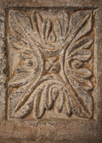 Medieval stone floral pattern Royalty Free Stock Images