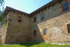 Medieval stone fortress in Starokonstantinov. Museum in medieval stone fortress in Starokonstantinov Stock Photos