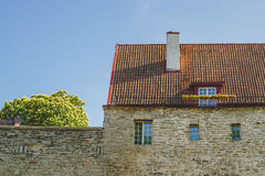 Medieval stone house facade Royalty Free Stock Photography