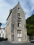 Medieval stone house in France Royalty Free Stock Photo