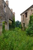 Medieval stone ruins, French rural Stock Photography