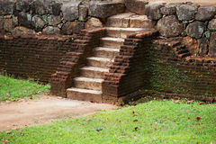 Medieval stone staircase. Sri Lanka. Royalty Free Stock Photography