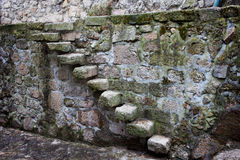 Medieval Stone Steps and Wall Stock Image