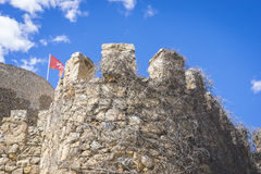 Medieval stone tower in the city of Toledo, Spain, ancient forti Royalty Free Stock Photos