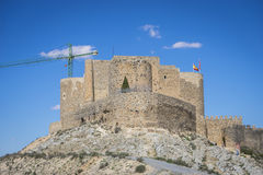 Medieval stone tower in the city of Toledo, Spain, ancient forti Royalty Free Stock Photo