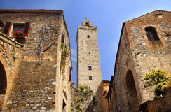 Medieval Stone Tower San Gimignano Italy Royalty Free Stock Image