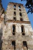 Medieval stone Tower in Starokonstantinov. Medieval ruined stone tower of the fortress in Starokonstantinov Stock Photo