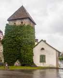 Medieval Stone Tower Stein am Rhein Switzerland Royalty Free Stock Images