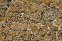 Medieval stone wall detail Stock Images