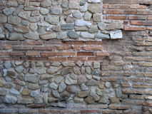 Medieval stone wall. Horizontal detail of medieval stone wall Royalty Free Stock Photos