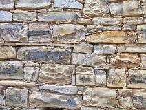 Medieval stone wall textured background. stock images