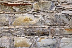 Medieval stone wall textured background. stock photography
