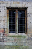 Medieval Stone Window, leaded lights Royalty Free Stock Photos