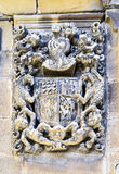 Medieval stony coat of arms in San Asensio Royalty Free Stock Images