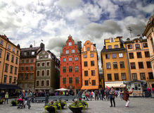 Medieval Stortorget square in Stockholm Royalty Free Stock Photography