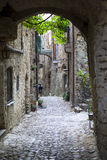Medieval street. The street of Italian medieval village royalty free stock image