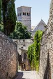Medieval street in Assisi, Italy Stock Photo