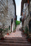 Medieval street in Assisi Royalty Free Stock Image