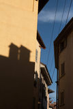 Medieval street in Bergamo, Lombardy, Italy. Royalty Free Stock Photography