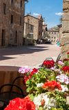 Medieval Street of Borgo sul Trasimeno Royalty Free Stock Photography