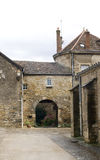 Medieval street in Burgundy Stock Photography