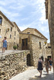 Medieval street in Catalonia Royalty Free Stock Photo