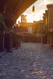 Medieval street city Royalty Free Stock Images