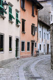 Medieval Street in Cividale del Friuli Royalty Free Stock Photography