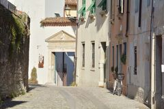 Medieval street in Cividale, Italy Stock Photography