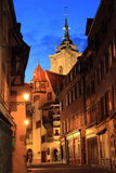 Medieval street of Colmar Royalty Free Stock Image