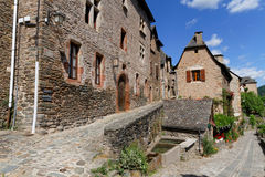 A Medieval Street in Conques Royalty Free Stock Photo