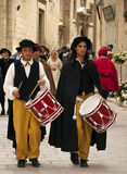 Medieval Street Drummer Royalty Free Stock Images