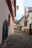 Medieval street in Eltville Stock Images