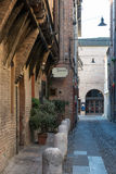 Medieval street in Ferrara Stock Images