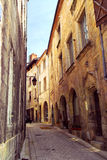 Medieval street in France Stock Photos