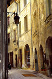 Medieval street in France royalty free stock image